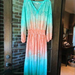 Boston Proper dress with long overlay